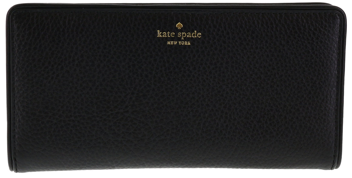 Kate Spade WLRU2607 New York Mulberry Street Large Stacy Pebbled Leather Wallet Womens Wallets Kate Spade
