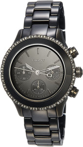 DKNY Black Ceramic Chronograph Glitz Watch NY8671