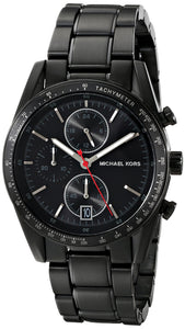 Michael Kors Mk8386 Men'S Accelerator Chrono Black Ip Stainless Steel, Other Platings Mens Watches Michael Kors
