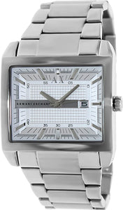 Armani Exchange Silver Dial Stainless Steel Mens Watch AX2201