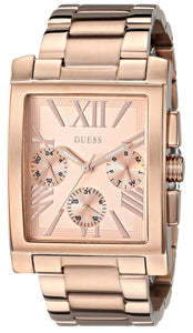 Guess Women'S U0450L3 Sophisticated Classic Rose Gold-Tone Multi-Function Watch Womens Watches Guess