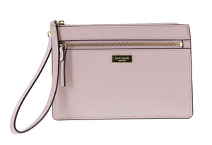 Kate Spade WLRU2677 New York Tinie Laurel Way Saffiano Leather Wristlet Handbag Clutch (Pink Blush) Womens Wallets Kate Spade