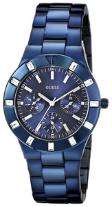 Guess Women'S U0027L3 Iconic Blue-Plated Stainless Steel Watch Womens Watches Guess