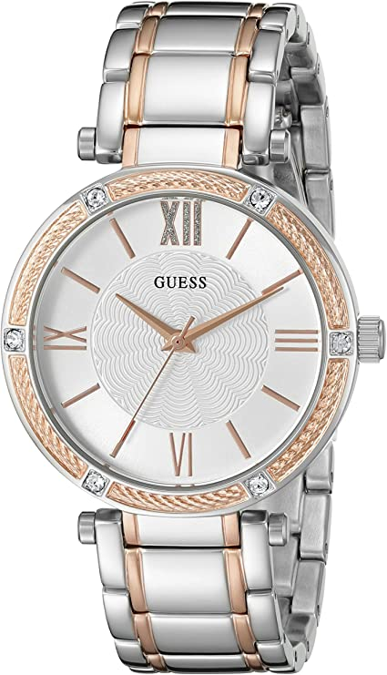 GUESS Women's Stainless Steel Two-Tone Casual Watch U0636L1