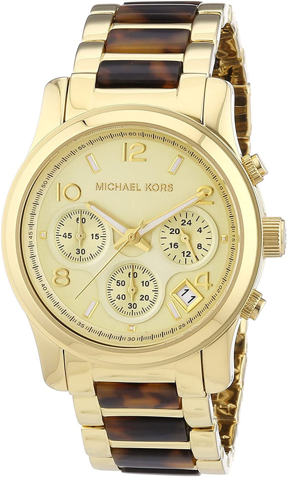 MICHAEL KORS Runway Chronograph Gold-Tone Ladies Watch MK5659 Womens Watches Michael Kors