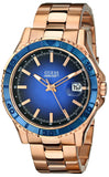 Guess Men'S U0244G3 Color Sport Blue Dial Rose Gold-Tone Watch Mens Watches Guess