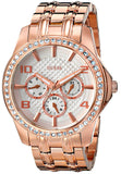 Guess Women'S U0147L3 Polished Glamour Rose Gold-Tone Watch Womens Watches Guess