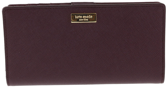 Kate Spade WLRU2673 New York Laurel Way Stacy Saffiano Leather Wallet (Mulled Wine) Womens Wallets Kate Spade
