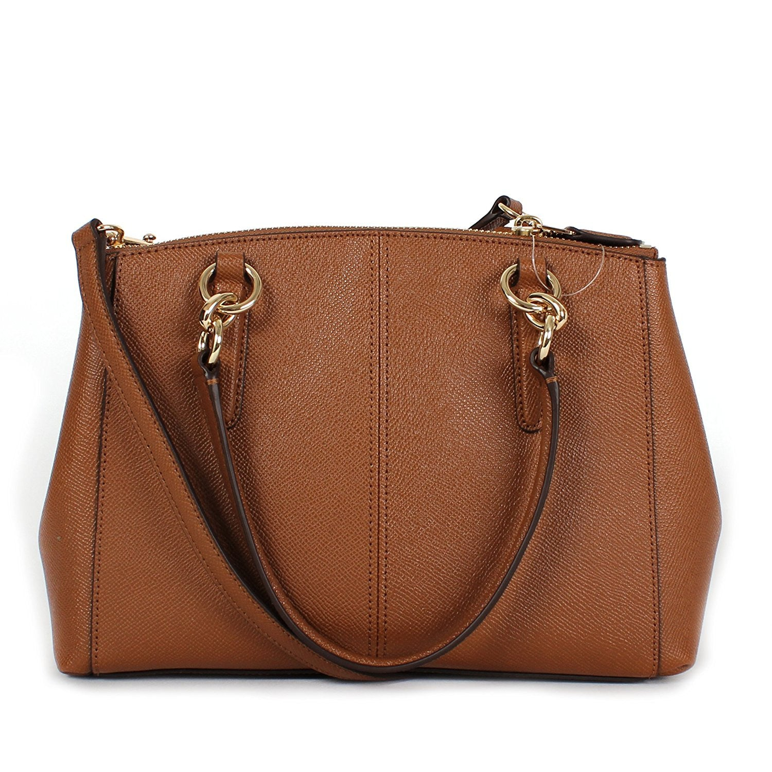 Mini Christie Carryall In Crossgrain Leather Coach F57523 Gold Saddl Signature Crossbody Imitation Saddle Womens Handbags