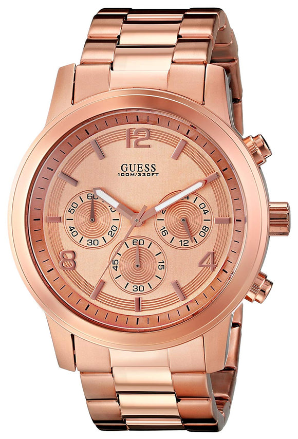 Guess Men'S U16003G1 Contemporary Rose Gold-Tone Chronograph Watch Mens Watches GUESS