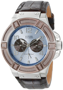 Guess Men'S U0040G10 Rigor Multi-Function Watch With Brown Band Mens Watches GUESS