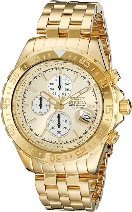 Invicta Men's 18854 Aviator Gold-Plated Stainless Steel Watch