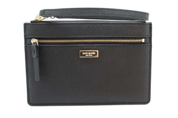 Kate Spade WLRU2677 New York Tinie Laurel Way Saffiano Leather Wristlet Handbag Clutch Womens Handbags Kate Spade