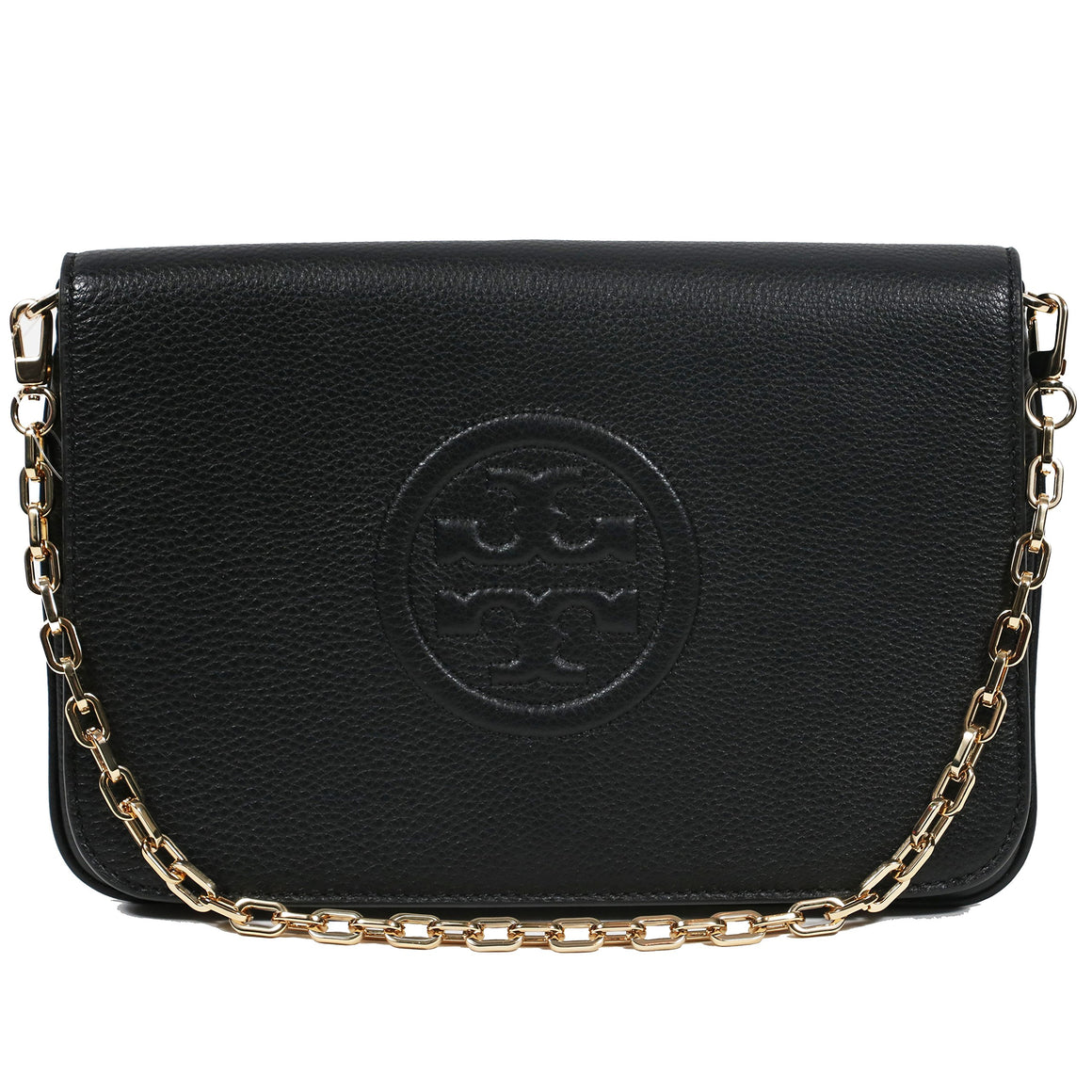 Tory Burch Bombe Convertible Clutch Leather Tb Logo Womens Handbags Tory Burch
