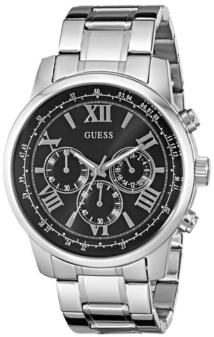 mens guess watches watchcove genuine designer watches for men guess men s u0379g1 dressy silver tone stainless steel multi function watch chronograph dial