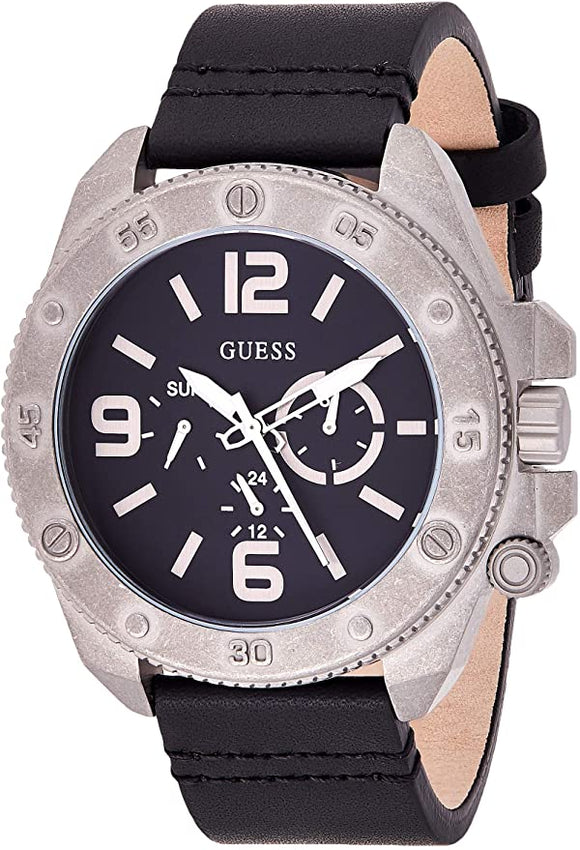Guess Multifunction Leather Mens Watch W0659G1