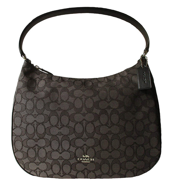 Zip Shoulder Bag In Signature Jacquard (Coach F29959) Womens Handbags Coach