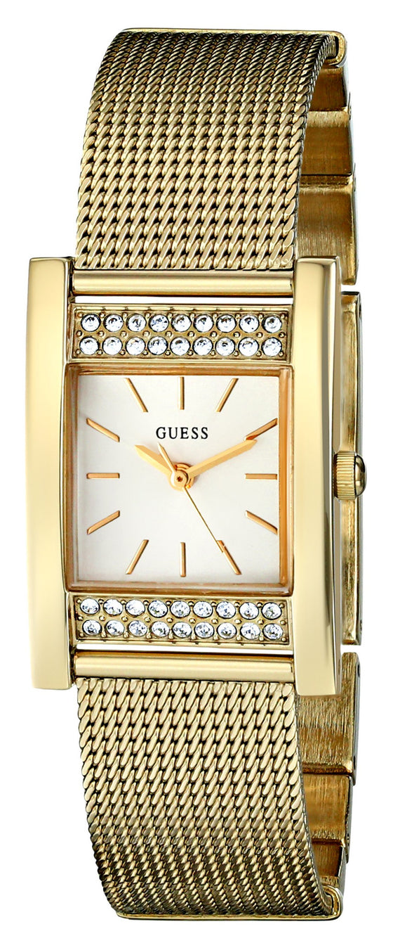 Guess Women'S U0127L2 Crystal-Accented Gold-Tone Watch Womens Watches Guess