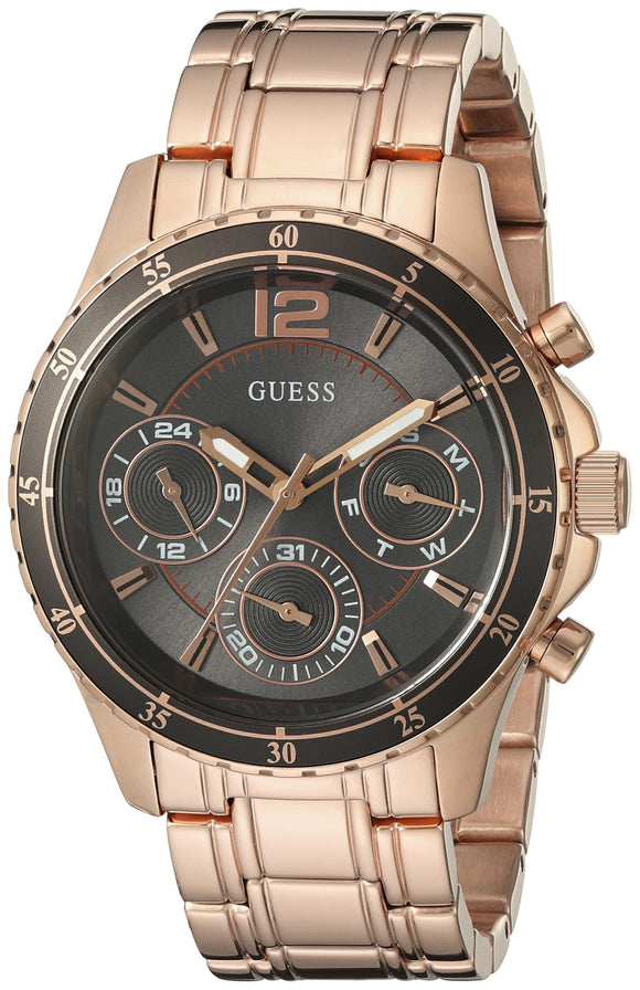 Guess Women'S U0639L2 Modern Classic Rose Gold-Tone Watch With Grey Multi-Function Dial Womens Watches Guess