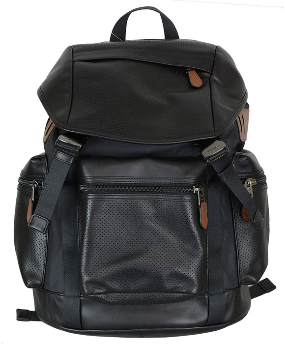 Terrain Trek Pack In Perforated Mixed Materials (Coach F57477) Mens Backpacks Coach