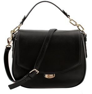 Kate Spade WKRU3926 Mulberry Street Alecia Pebbled Black Leather Shoulder Bag, Wkru3926-001 Womens Handbags Kate Spade