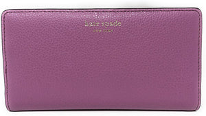 Kate Spade New York Eva Slim Leather ID Bifold Wallet in Pink Mauve