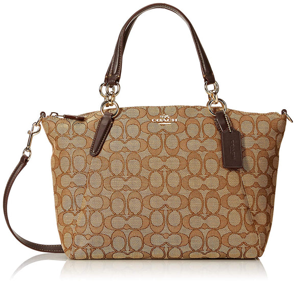 Small Kelsey Satchel In Signature Jacquard (Coach F27582) Womens Handbags Coach