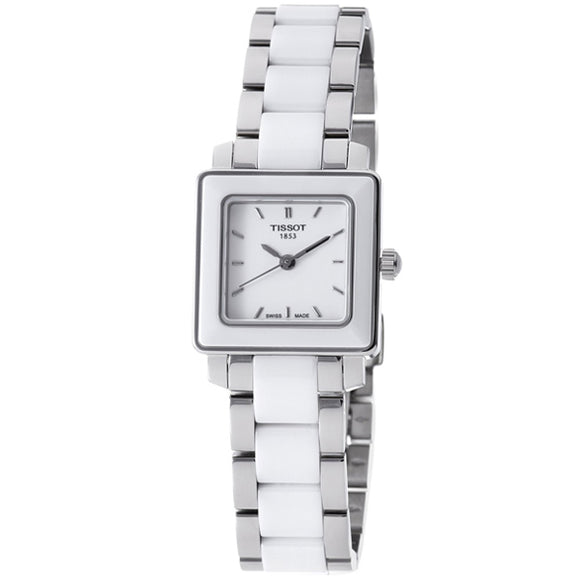 Tissot T-Trend Cera Diamonds White Dial Women'S Watch #T064.310.22.016.00 Womens Watches Tissot
