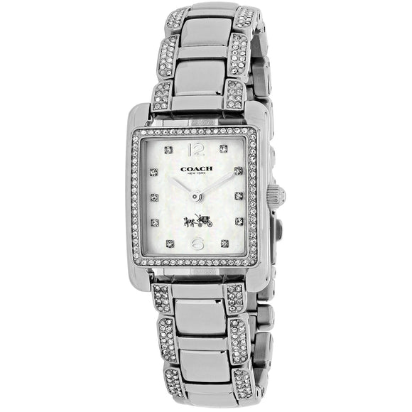Coach Page Silver Tone Stainless Steel Glitz Womens Watch 14502018
