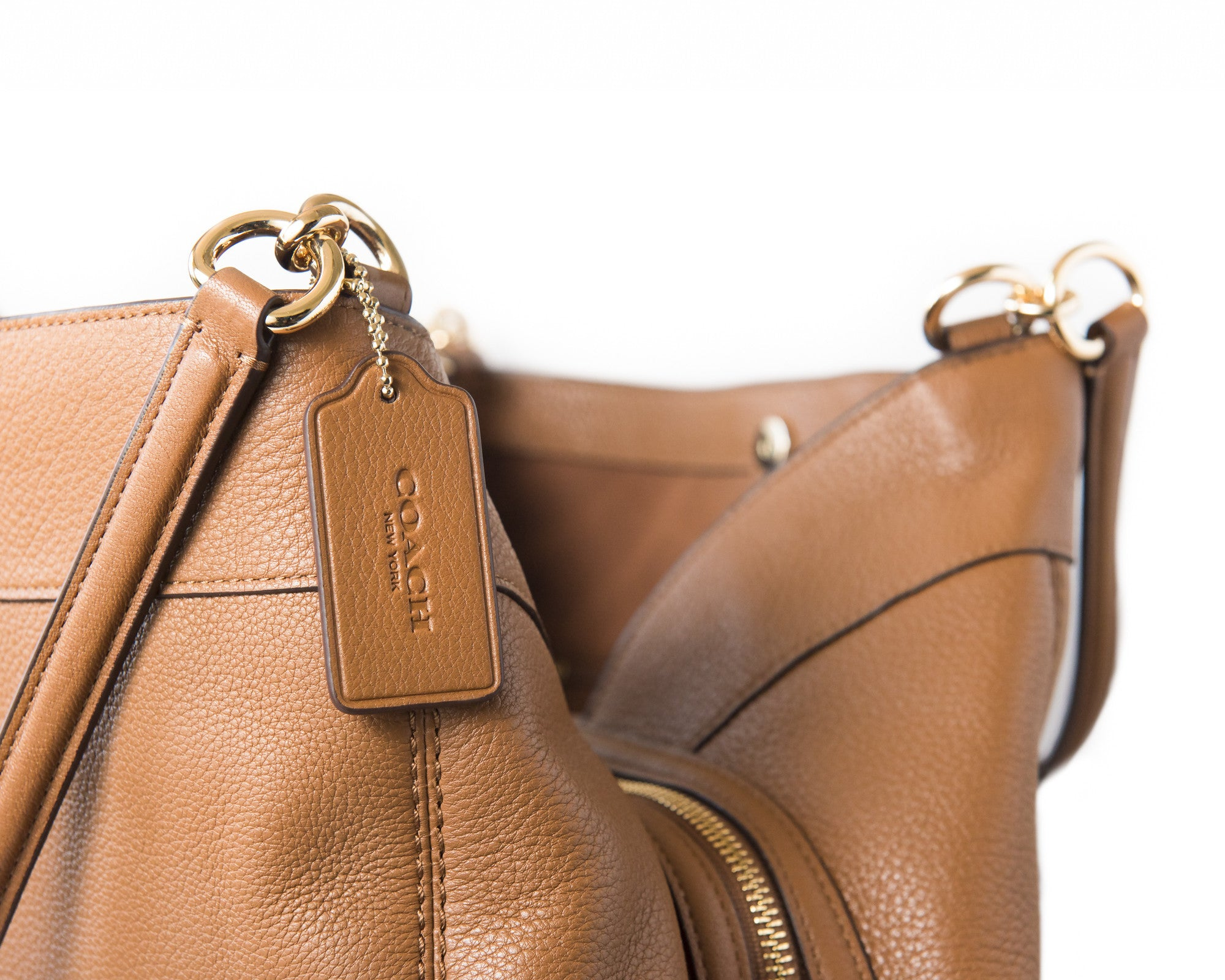 Coach Lexy Shoulder Bag In Pebble Leather Saddle Gold F57545 - Watchcove 47a7972271a72