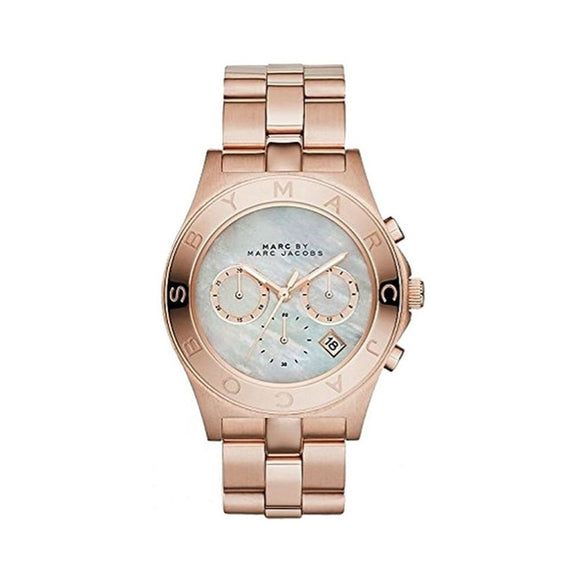 Marc Jacobs Women's MBM8637 'Blade' Multi-Function Rose-Tone Stainless Steel Watch Womens Watches Marc by Marc Jacobs