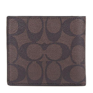 Double Billfold Wallet In Signature (Coach F75083)