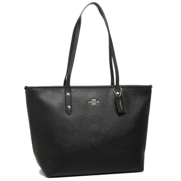 1032348aed93 City Zip Tote In Crossgrain Leather (Coach F58846) Gold Black