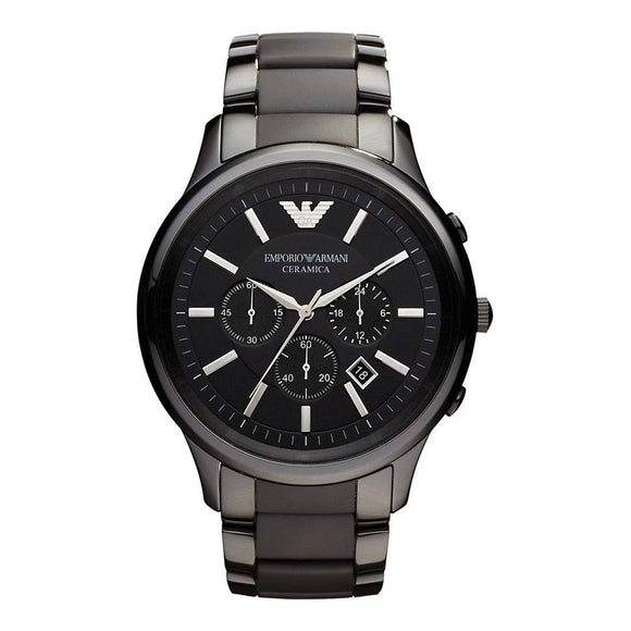 Emporio Armani Mens Black Ceramic Watch AR1451