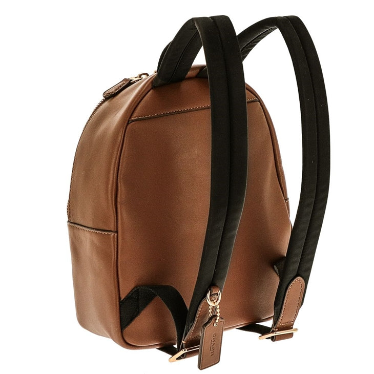 Mini Charlie Backpack In Signature Coated Canvas (Coach F58315)