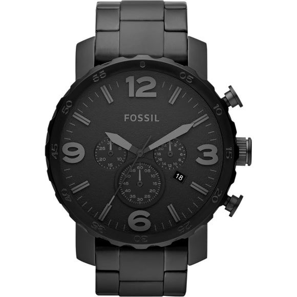 Fossil Men's Nate Stainless Steel Chronograph Quartz Watch JR1401