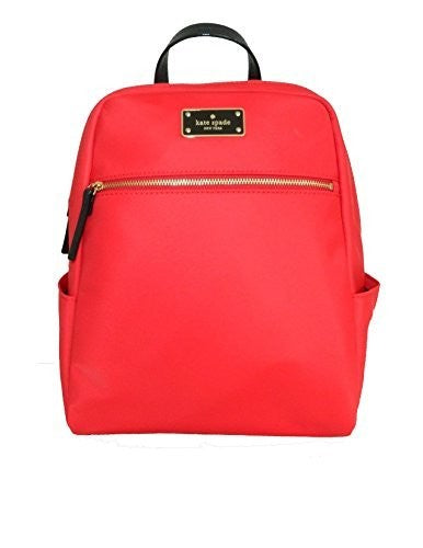 Kate Spade WKRU3525 New York Blake Avenue Hilo Small Backpack (Red) Womens Backpacks Kate Spade