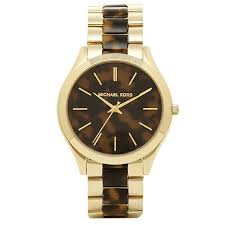 MICHAEL KORS Slim Runway Tortoise-shell Dial Ladies Watch MK4284 Womens Watches Michael Kors