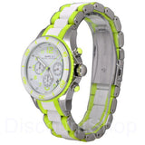 MARC BY MARC JACOBS Rock Chronograph White and Green Silicone Ladies Watch Womens Watches Marc by Marc Jacobs