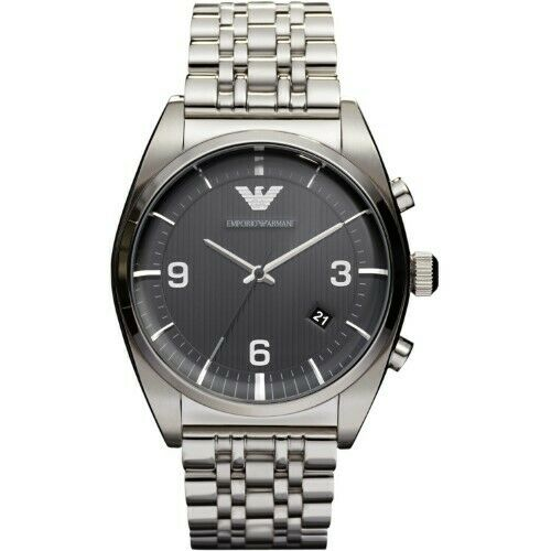 Emporio Armani Classic Analog Black Dial Men's Watch - AR0369 Mens Watches Emporio Armani
