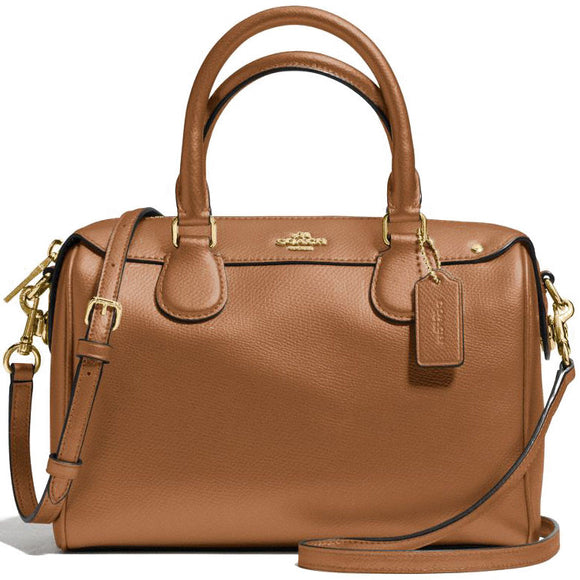 Mini Bennett Satchel In Crossgrain Leather (Coach F57521) Womens Handbags Coach