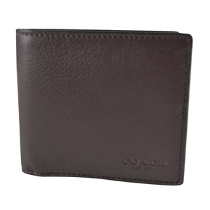 Double Billfold Wallet In Calf Leather (Coach F75084) Mens Wallets Coach