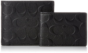 Compact Id Wallet In Signature Crossgrain Leather (Coach F75371) Mens Wallets Coach