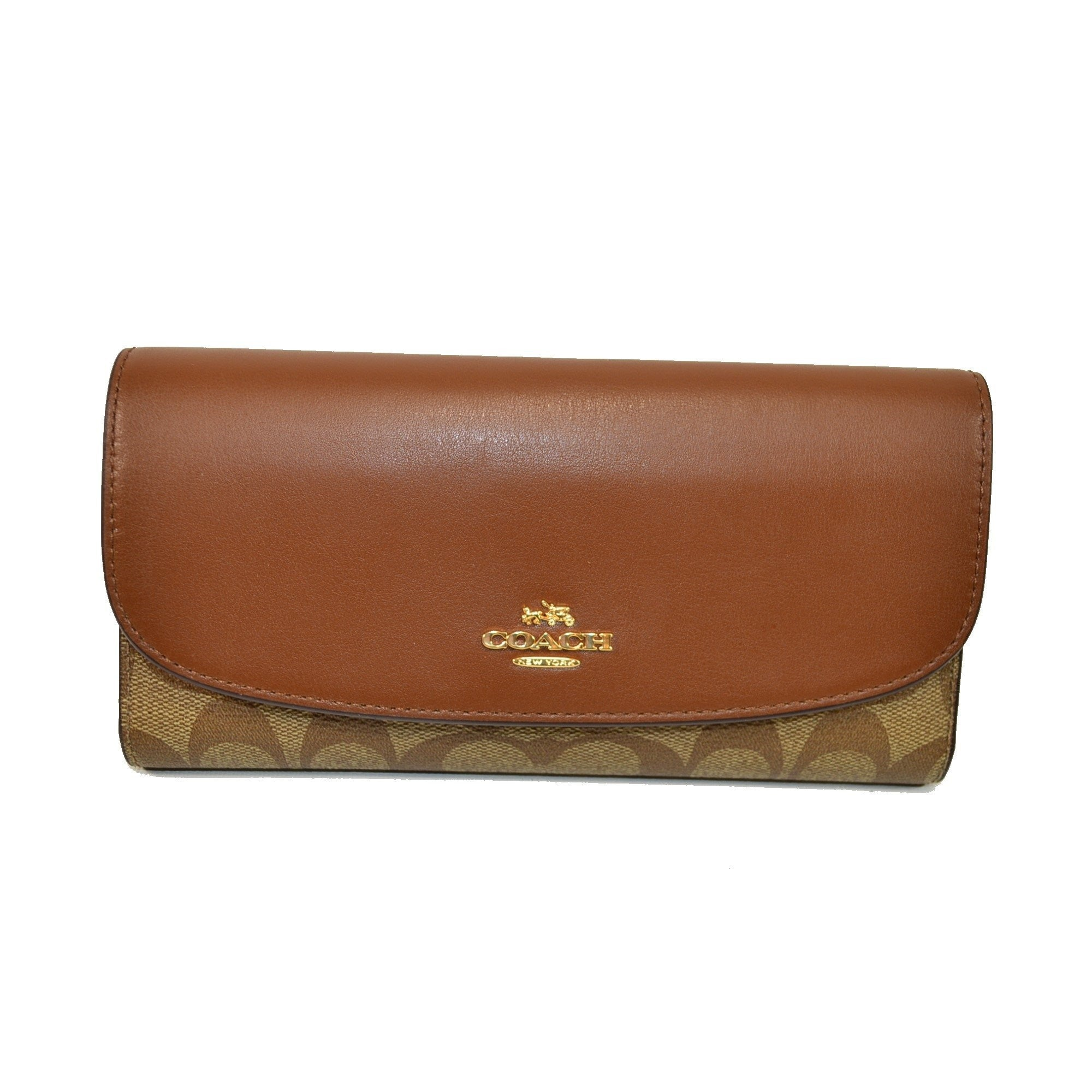6d0b36f6bc0af Checkbook Wallet In Signature (Coach F57319) - Watchcove