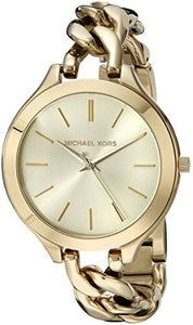 Michael Kors Women'S Slim Runway Twist Watch, Gold, One Size Womens Watches Michael Kors