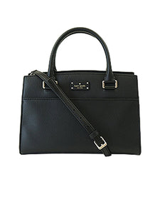 Kate Spade WKRU4257 Small Caley Grove St Black Satchel Womens Handbags Kate Spade