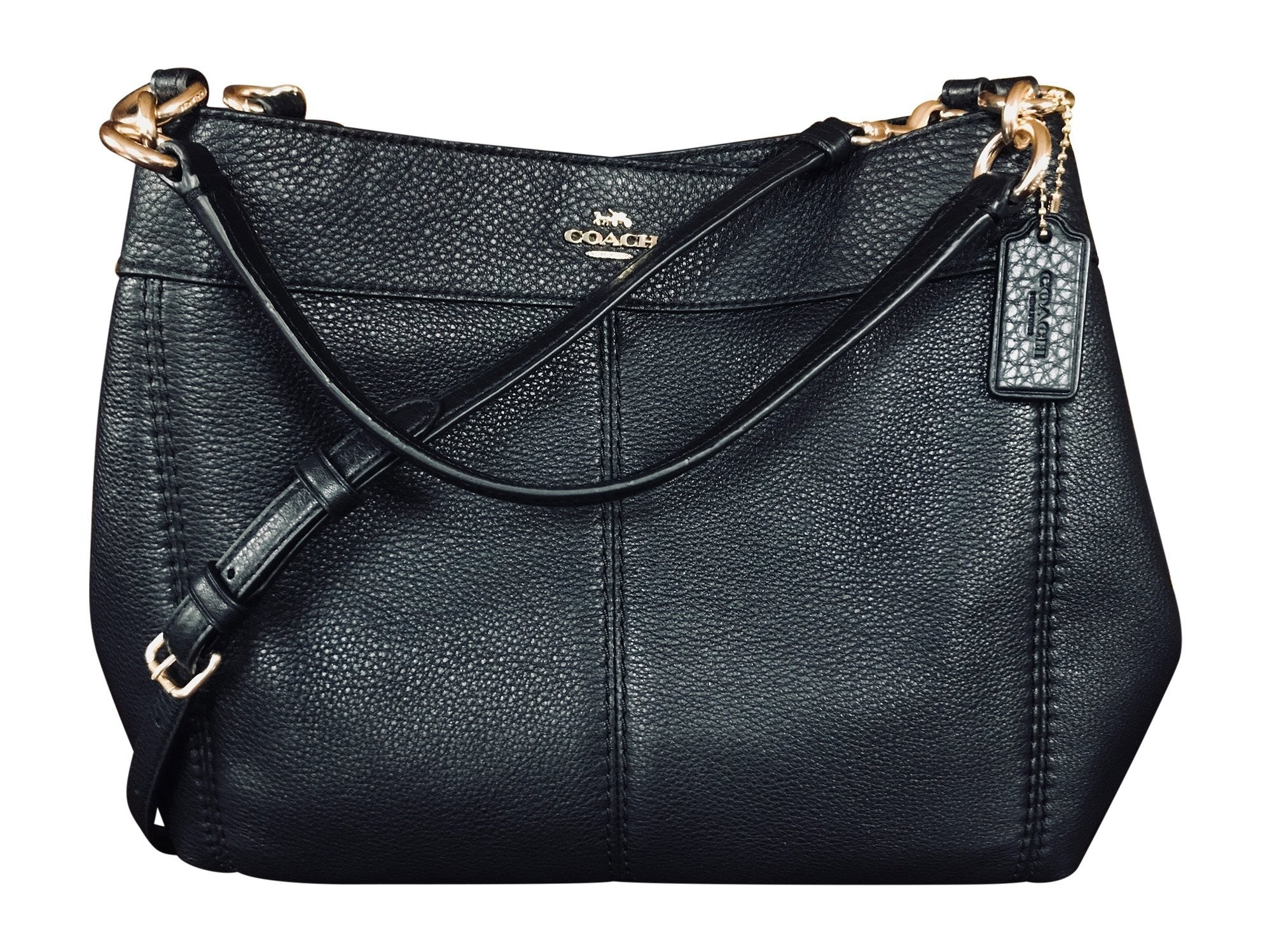 Coach Pebbled Leather Small Lexy Shoulder Bag - Watchcove a6faeacc5d227