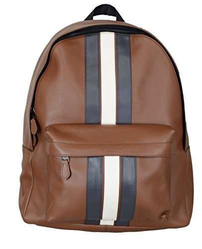Charles Backpack With Varsity Stripe (Coach F23214) Mens Backpacks Coach