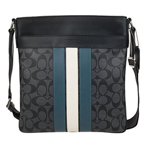 Charles Crossbody In Signature Canvas With Varsity Stripe (Coach F26068) Mens Bags Coach