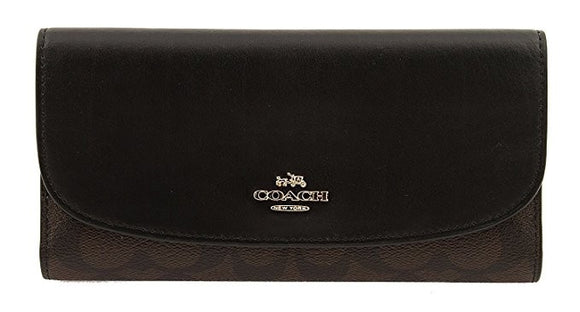 Checkbook Wallet In Signature (Coach F57319) Womens Wallets Coach
